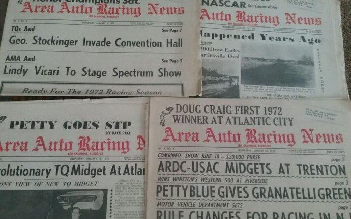 LOT OF 4 AREA AUTO RACING NEWS - JANUARY 1972 (B0X 35) | eBay