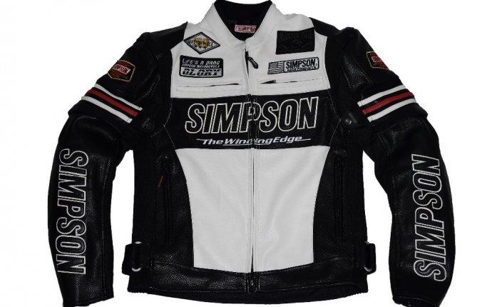 Simpson moto motocicleta jaqueta de corrida jaqueta com protetores