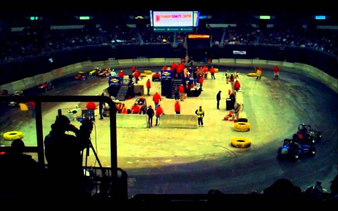 The Coffee Cup Indoor Auto Racing 2012 - YouTube